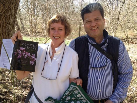 Pat and Georg Uebelhart stroll through Louisville's Cherokee Park on April 1st.
