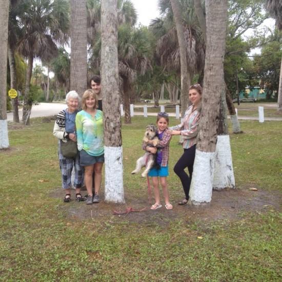 My people and Rufus. Sanibel, Florida.