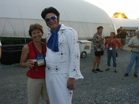 Janet and Elvis (a.k.a. Neil Diboll) at North Creek Nurseries during the 2008 Philadelphia PPA symposium.
