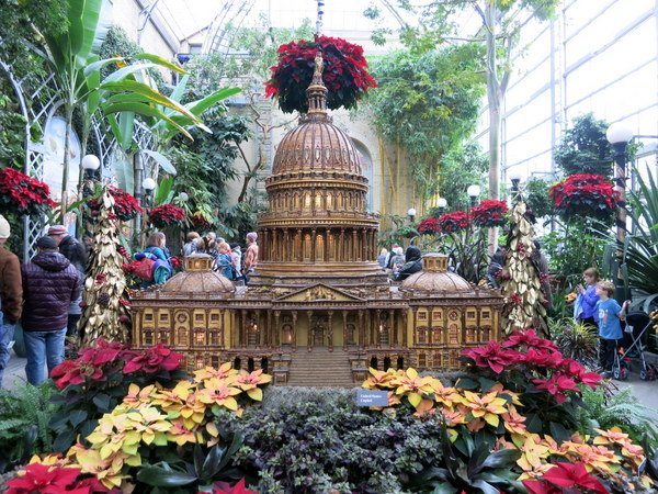 us botanic garden part of its popular holiday display the exterior crown shaped elements are all walnut parts learn more about the building in a - Us Botanic Garden