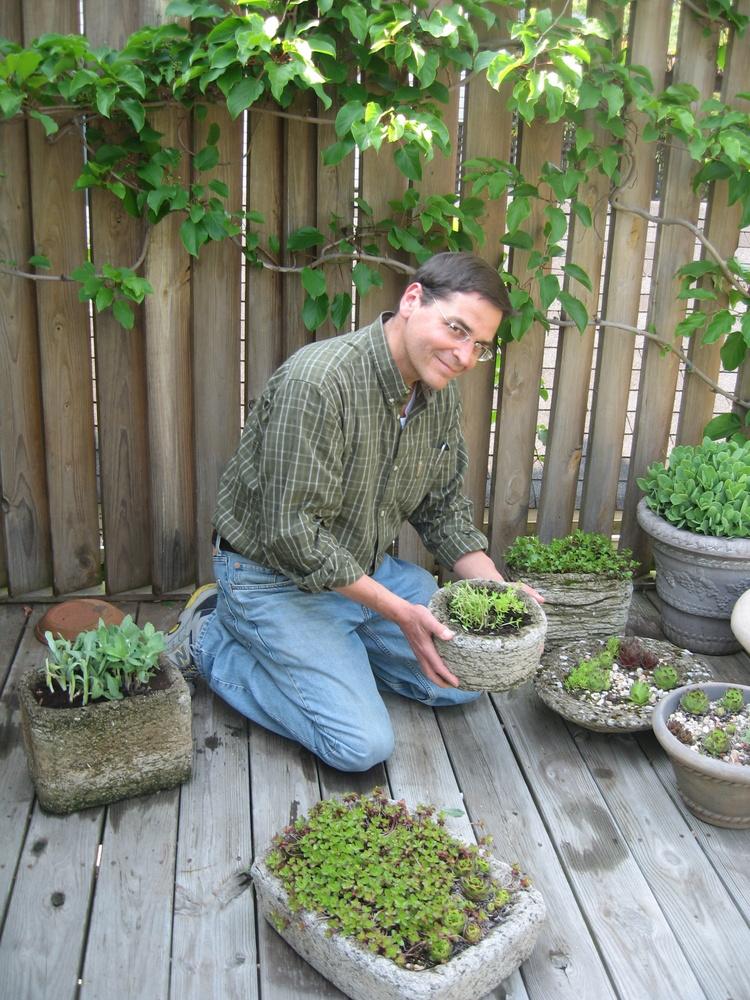 Rob Cardillo on Susan Harris's deck in Takoma Park, MD