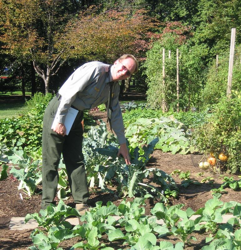 Jim Adams during White House Garden Tour Day October 2010