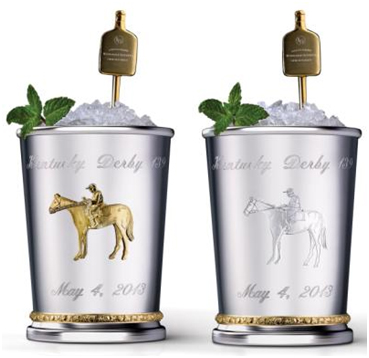 "Mint Juleps with ""gold-filtered mineral water"" from eastern Nova Scotia"