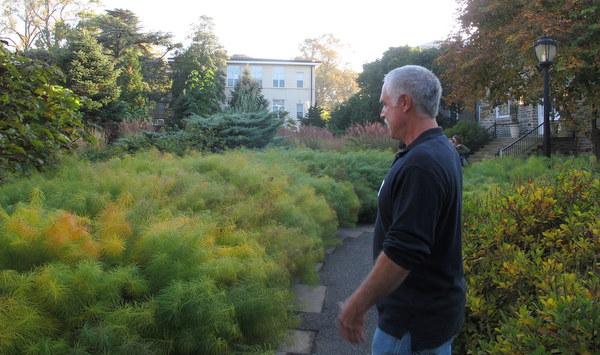 Chunk Hinkle at Scott Arboretum, Swarthmore College