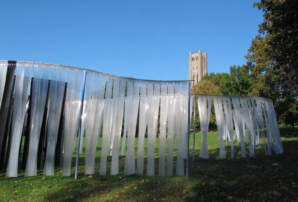 Stacy Levy sculpture,  Scott Arboretum, Swarthmore College