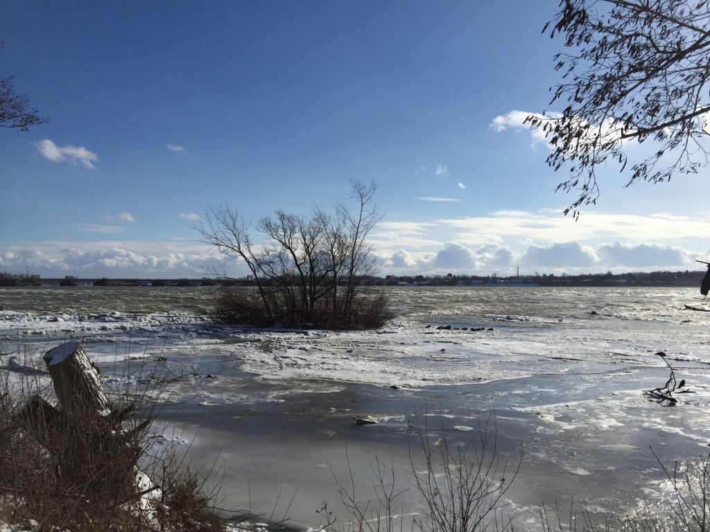 Niagara River rapids, near Three Sisters islands