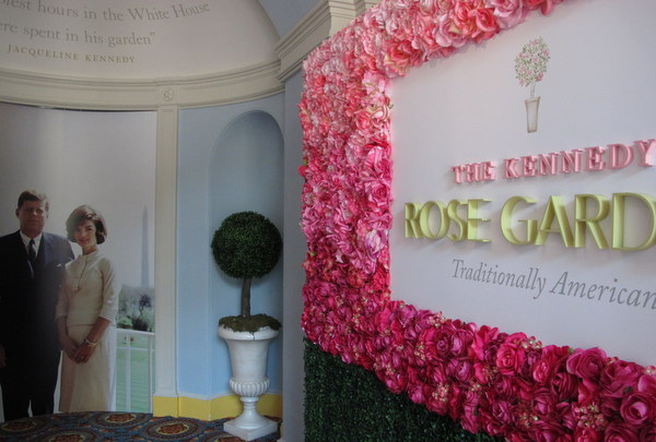 Kennedy Rose Garden exhibit at White House Historical Assoc.