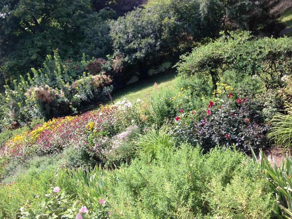The Edith Wharton homestead has a lovely garden with a mix of summer bulbs, perennials, shrubs, and annuals.