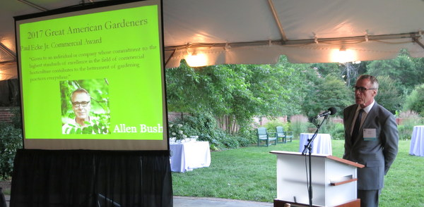 Allen Bush - Great American Gardener Award, AHS