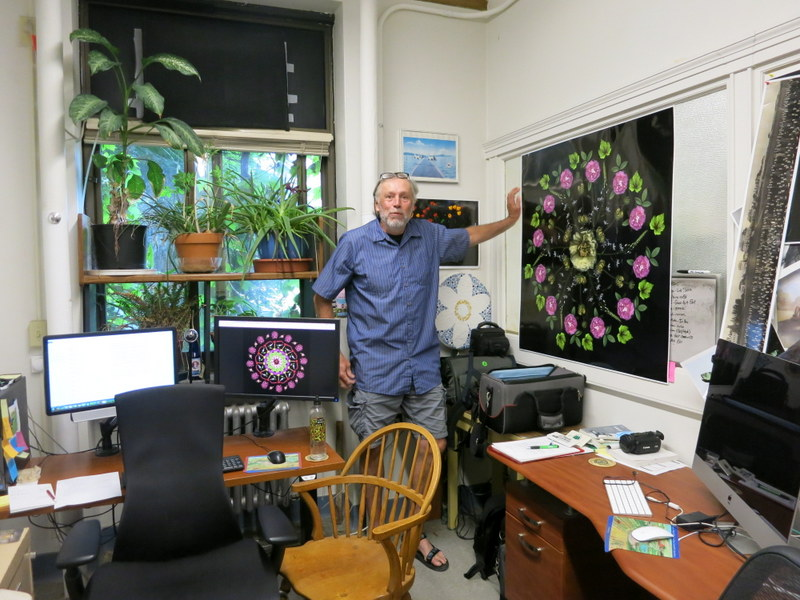Craig Cramer in his Cornell office in Ithaca, NY