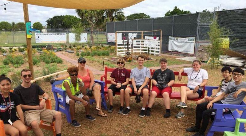 Parkland, Florida school garden