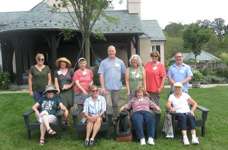 Garden writers at LongView Garden in Reistertown, MD