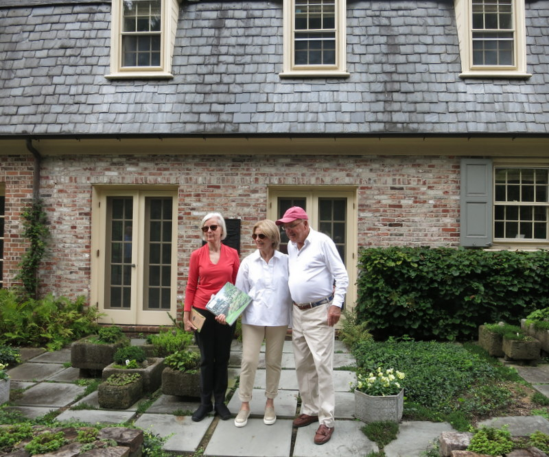 Kathy Hudson with Hubbards in their Baltimore garden