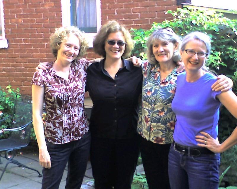 Rant co-founders in Buffalo July 2007 for GardenWalk. In garden of Elizabeth Licata