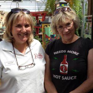 Author with Stephanie Fleming, granddaughter of Behnke Nurseries founder