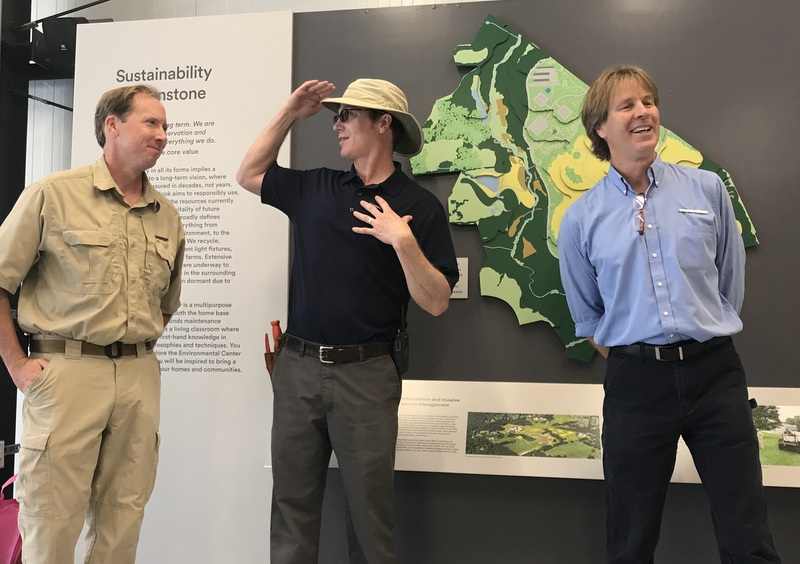 Paul Tukey, Sustainability Officer for Glenstone Museum, and others