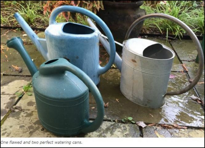 Failed watering cans