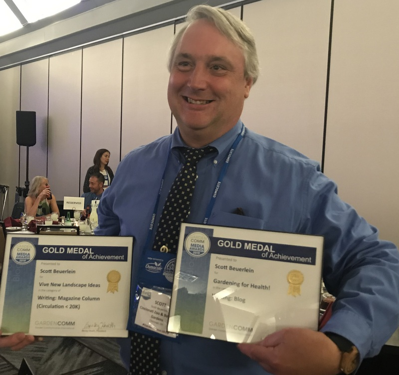 Scott Beuerlein wins award a Garden Writers Conference 2019