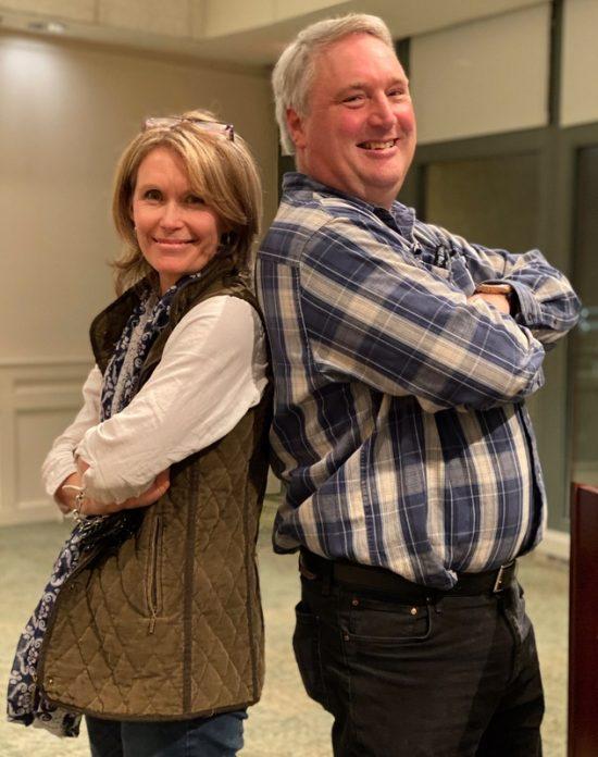 Marianne Willburn and Scott Beuerlein at Brookside Gardens