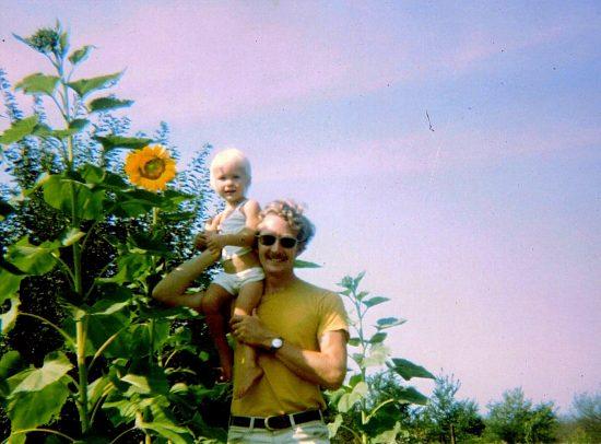 gardener, gardening, sunflowers