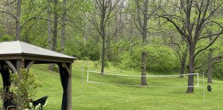 virginia lawn and volleyball net