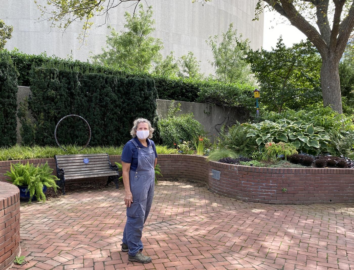 Janet Draper in Ripley Garden of Smithsonian September 2020
