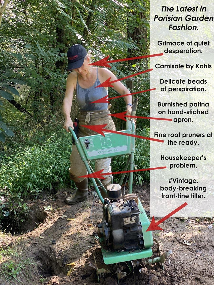 tiller and gardener