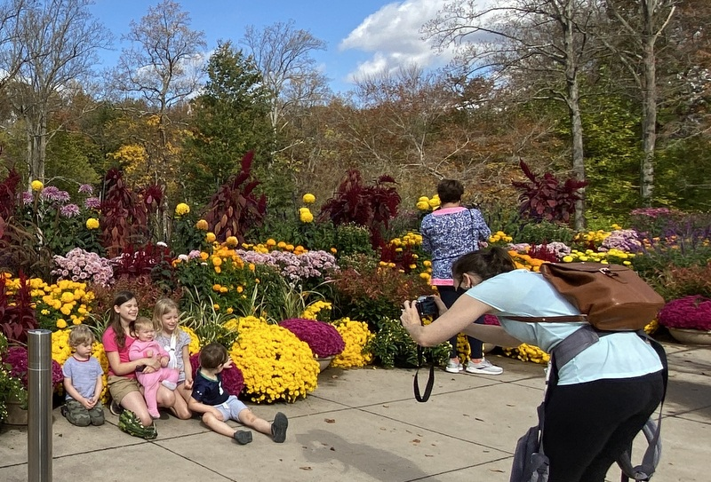 Visitors at Brookside Gardens October 2020