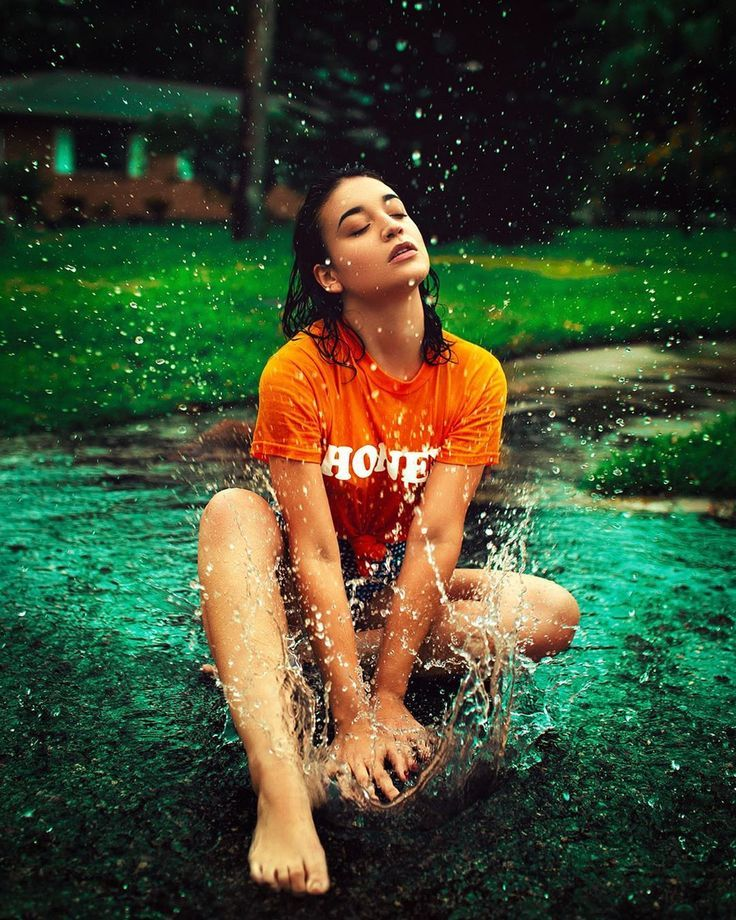 Art Photo of girl in puddle