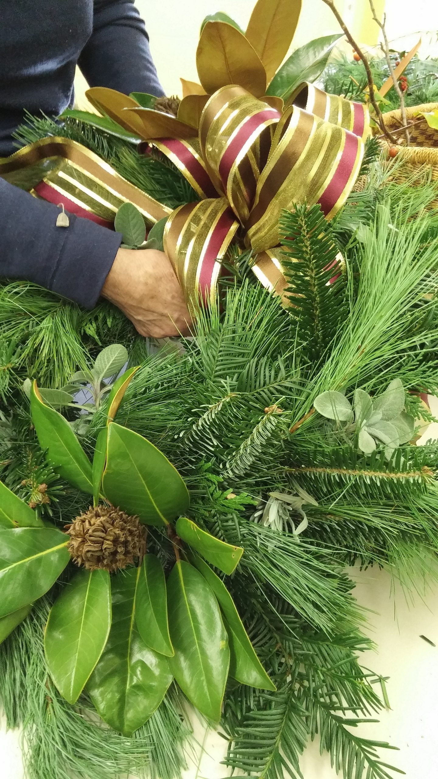 wreath making cold