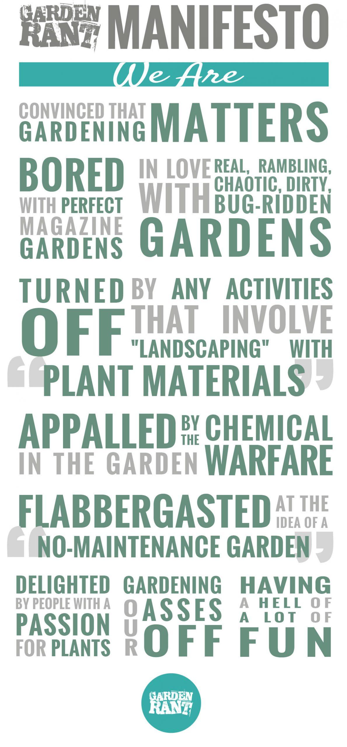 GardenRant Manifesto